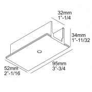 TRACK 3F DIM IN RECESSED COVER END SUPPLY