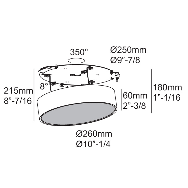 Supernova Xs Recessed 260 Dim8 Products Delta Light
